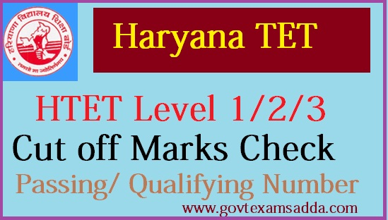 HTET Cut off Marks 2018-19