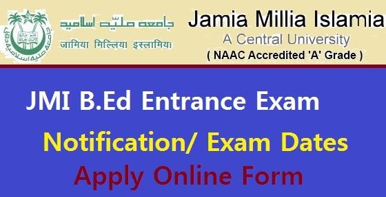JMI B.Ed Entrance Exam 2021