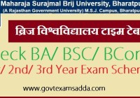 Brij University Time Table 2020