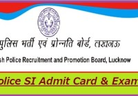 UP Police SI Admit Card 2020