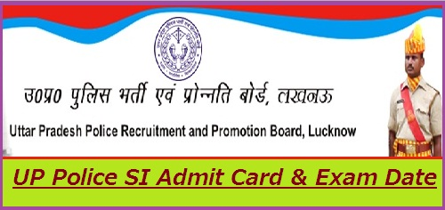 UP Police SI Admit Card 2019