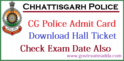 CG Police Admit Card 2019