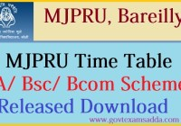 mjpru time table 2020