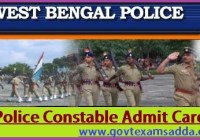 WB Police Admit card 2019