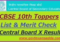 CBSE 10th Toppers list 2021