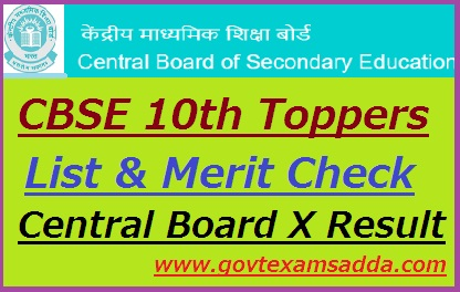 CBSE 10th Toppers list 2020