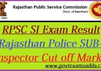 RPSC SI Result 2021