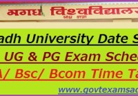 Magadh University Date Sheet 2021