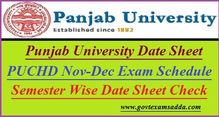 Punjab University Date Sheet 2020