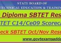 AP Diploma SBTET Result 2018-19