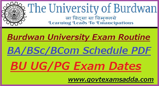 Burdwan University Routine 2019