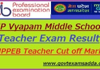 MPPEB Middle School Result 2018-19