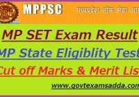 MP SET Result 2019