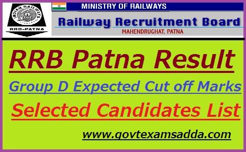 RRB Patna Group D Result 2019