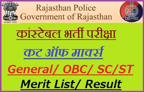 Rajasthan Police Cut off Marks 2020-21