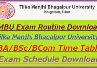 TMBU Exam Routine 2020