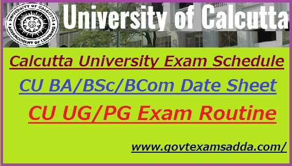 Calcutta University Exam Schedule 2021