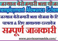 Rajasthan Berojgari Bhatta Online Registration Form 2021