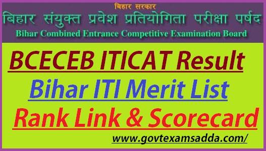 Bihar ITICAT Result 2019-20