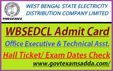 WBSEDCL Admit Card 2019