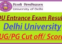 delhi university entrance exam result 2020