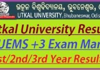Utkal University Result 2019
