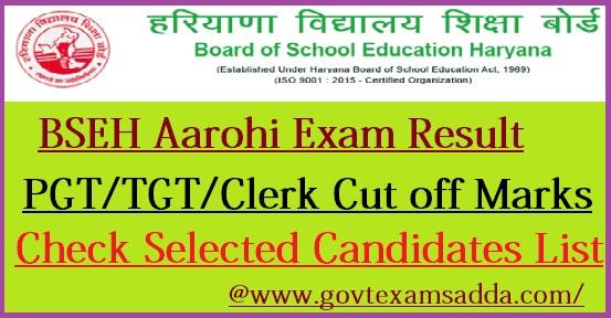 BSEH Aarohi School Result 2021