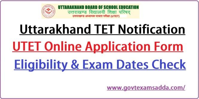 Uttarakhand TET Notification 2021-22