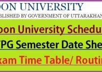 Doon University Date Sheet 2021