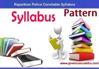 Rajasthan Police Syllabus 2021-22