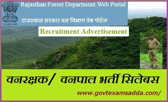 Rajasthan Forest Guard Syllabus 2021