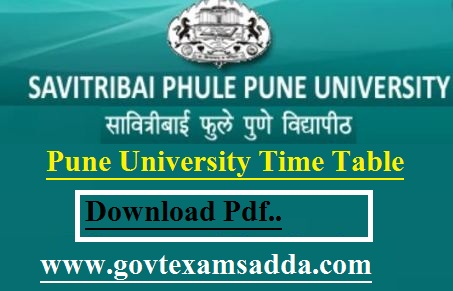 Pune University Time Table 2021