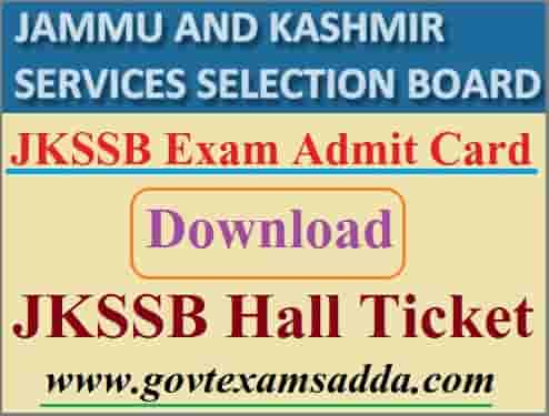 JKSSB Admit Card 2021