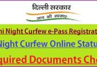 Delhi Night Curfew e-Pass Registration 2021