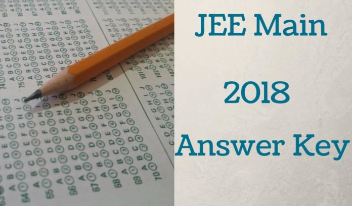 JEE main answer key 2018