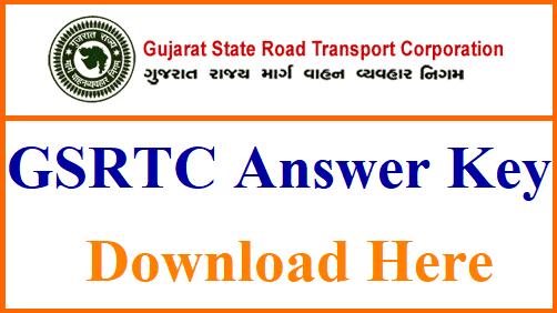 gsrtc answer key 2018