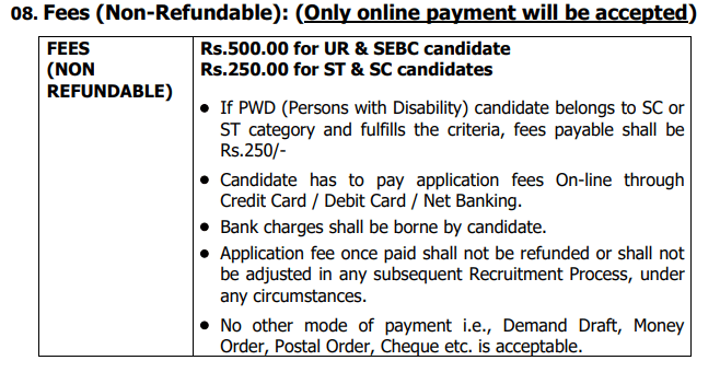 DGVCL Fee payment structure