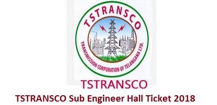 TSTRANSCO Sub Engineer Hall Ticket