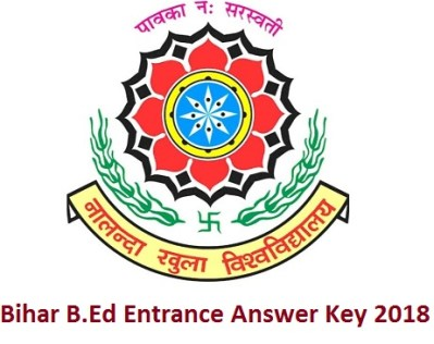 Bihar B.Ed Entrance Answer Key 2018