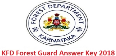 KFD Forest Guard Answer Key 2018