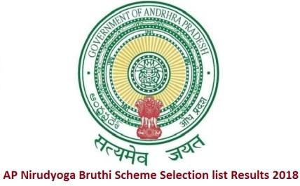 AP Nirudyoga Bruthi Scheme Selection list Results 2018