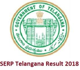 SERP Telangana Result 2018