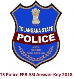 TS Police FPB ASI Answer Key 2018