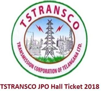 TSTRANSCO JPO Hall Ticket 2018
