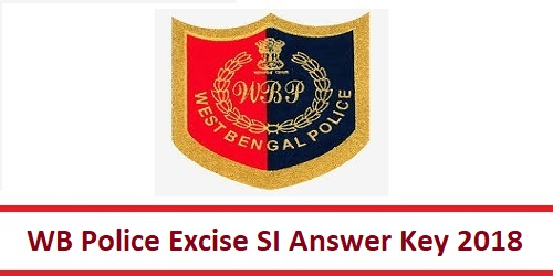 WB Police Excise SI Answer Key 2018