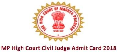 MP High Court Civil Judge Admit Card 2018