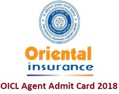 OICL Agent Admit Card 2018
