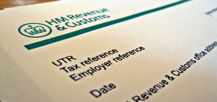 Top of HMRC form with logo
