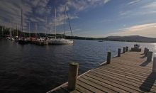picture of wooden jetty lake windermere