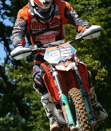 picture of motorcross bike in action